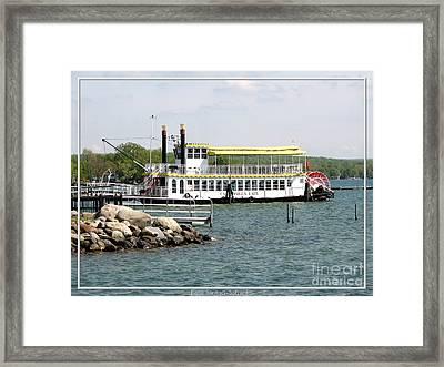 Canandaigua Lady Paddleboat Framed Print by Rose Santuci-Sofranko