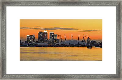 Canary Wharf At Sunset Framed Print by Photography Aubrey Stoll
