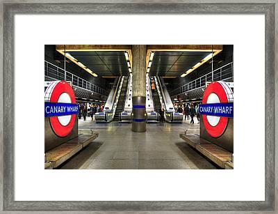 Canary Wharf Station Framed Print by Svetlana Sewell