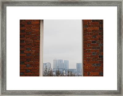 Framed Print featuring the photograph Canary Wharf View by Maj Seda