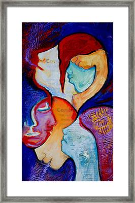 Cancer 7 Faces Of Grieving Framed Print by Claudia Fuenzalida Johns