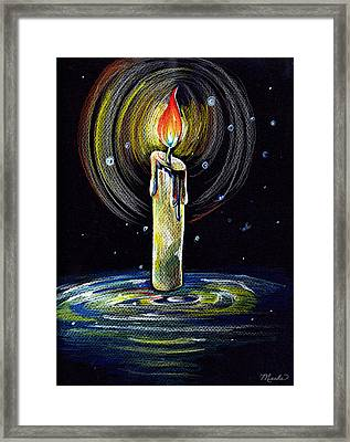 Candel On The Water  Framed Print