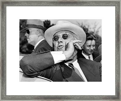Candid Photo Of President Franklin Framed Print by Everett