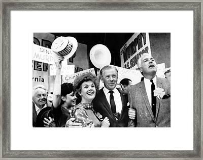 Candidate George Murphy Center Framed Print
