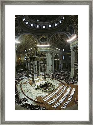 Candidates For Priesthood Lie Prostrate Framed Print by James L. Stanfield