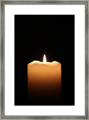 Candle Framed Print by Bogdan Constantin Petrovici