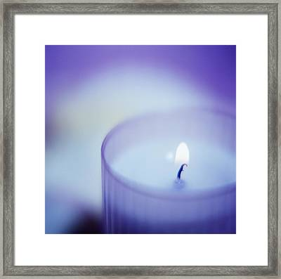Candle Framed Print by Cristina Pedrazzini