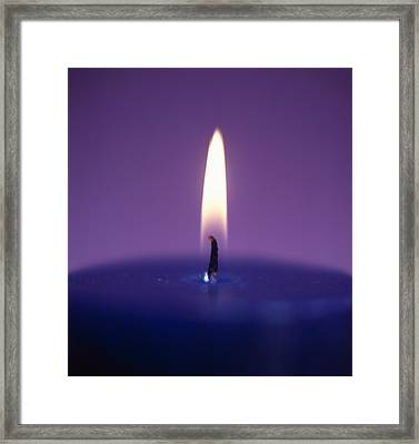 Candle Flame Framed Print by Cristina Pedrazzini