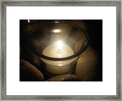 Candle For A Friend Framed Print by Michael Merry