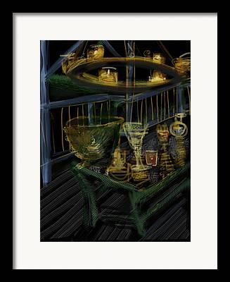 Wine Holder Mixed Media Framed Prints