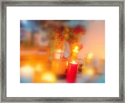 Candle Llight Framed Print by Amy Bradley