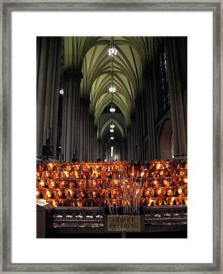 Candle Offering Framed Print
