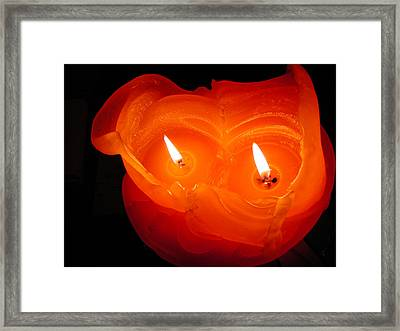 Framed Print featuring the photograph Candle Photo by Colette V Hera  Guggenheim