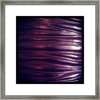 #candle #purple #decorative #cosy Framed Print by Lucy Maughan