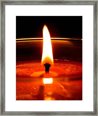 Framed Print featuring the photograph Candlelight by Ester  Rogers