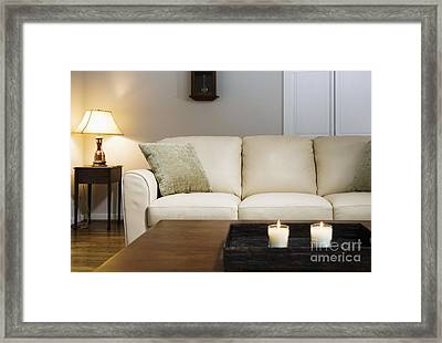 Candlelit Living Room Framed Print