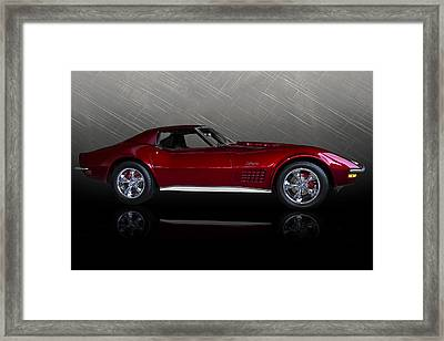 Candy Apple Corvette Framed Print