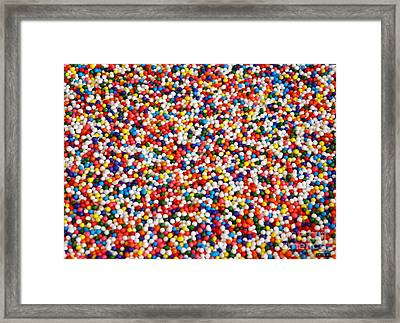 Candy Balls Framed Print by Methune Hively