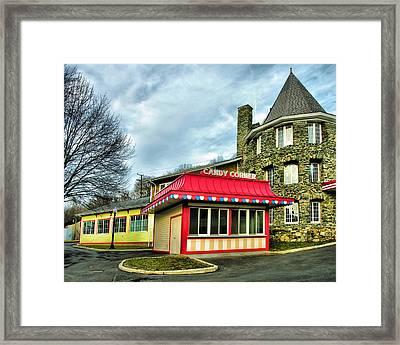 Candy Corner And Chatauqua Tower Framed Print by Steven Ainsworth