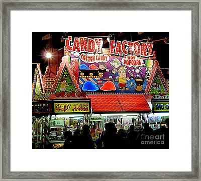 Framed Print featuring the photograph Candy Factory by Renee Trenholm