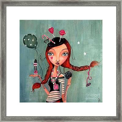 Candy Girl  Framed Print by Caroline Bonne-Muller