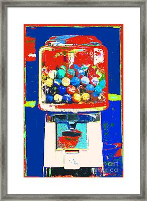 Candy Machine Pop Art Framed Print