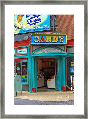 Candy Store Framed Print by Sophie Vigneault