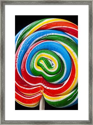 Candy Sucker Close Up Framed Print by Garry Gay