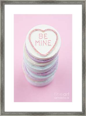 Candy With Be Mine Written On It Framed Print by Neil Overy