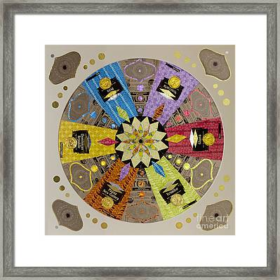 Candy Wrapper Mandala Framed Print by Fourth and Fith Grades