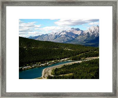 Canmore Mountains Framed Print
