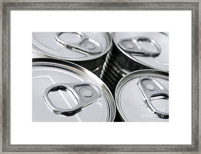 Canned Food Framed Print