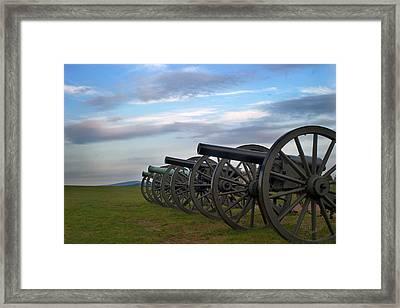 Cannon At Antietam Framed Print