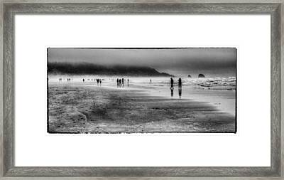 Cannon Beach Fog Framed Print by David Patterson