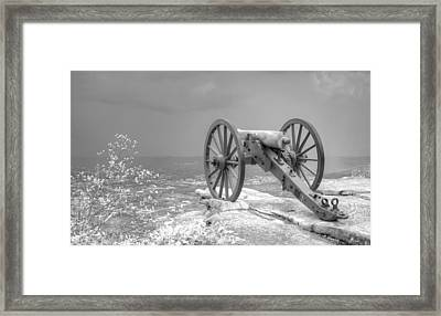 Cannon Framed Print by David Troxel