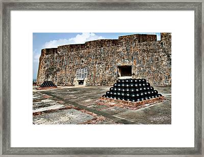 Fort San Cristobal, Cannon Embrasures, Framed Print