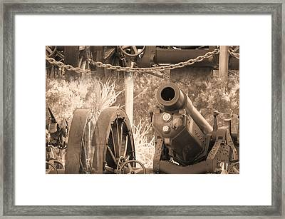 Cannon Framed Print by Jaqueline Briel