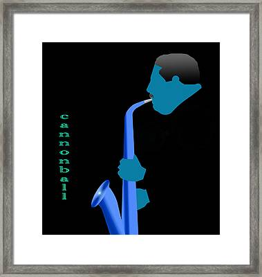 Cannonball Blue Framed Print
