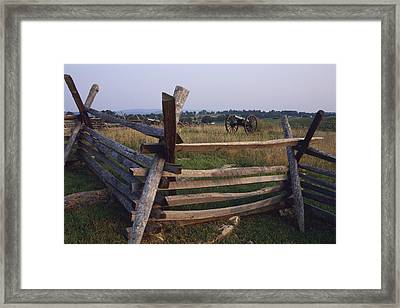 Cannons At Antietam National Framed Print