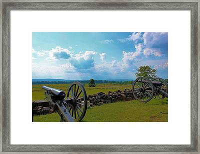 Cannons Framed Print by Justin Mac Intyre