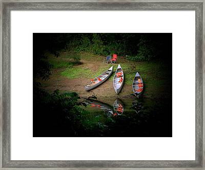 Canoe Bank Framed Print by Michael L Kimble