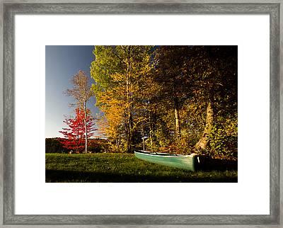 Canoe Framed Print by Cale Best