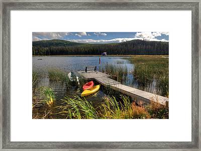 Canoe Canada Framed Print by Peter Olsen