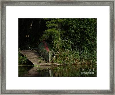 Canoe Green Thumbed Framed Print
