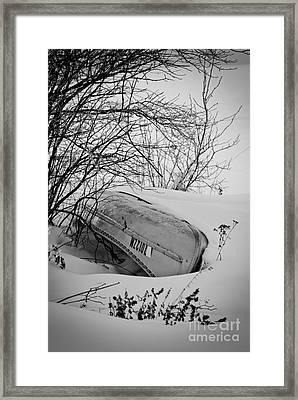 Canoe Hibernation Framed Print by Mark David Zahn Photography