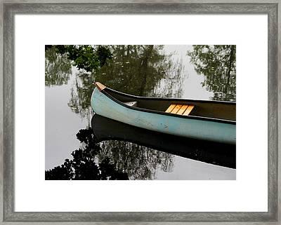Canoe Framed Print by Odd Jeppesen