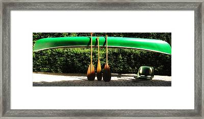Canoe To Nowhere Framed Print by Alec Drake
