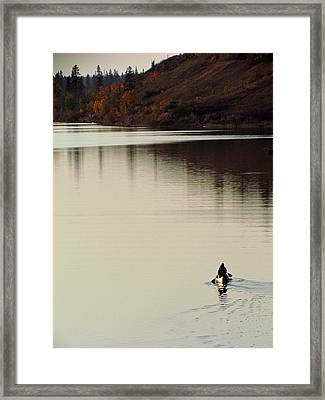 Canoe Tracks Framed Print by Andrea Arnold
