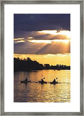 Canoeing Framed Print