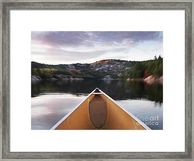 Canoeing In Ontario Provincial Park Framed Print by Oleksiy Maksymenko